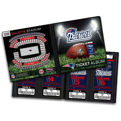 That's My Ticket - National Football League Collection - 8 x 8 Ticket Album - New England Patriots