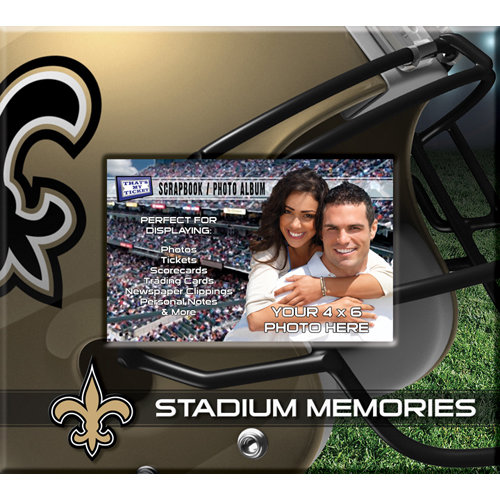 That's My Ticket - National Football League Collection - 8 x 8 Postbound Scrapbook and Photo Album - New Orleans Saints