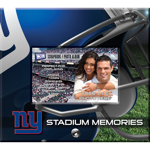 That's My Ticket - National Football League Collection - 8 x 8 Postbound Scrapbook and Photo Album - New York Giants