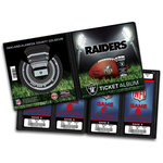 That's My Ticket - National Football League Collection - 8 x 8 Ticket Album - Oakland Raiders