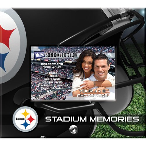 That's My Ticket - National Football League Collection - 8 x 8 Postbound Scrapbook and Photo Album - Pittsburgh Steelers