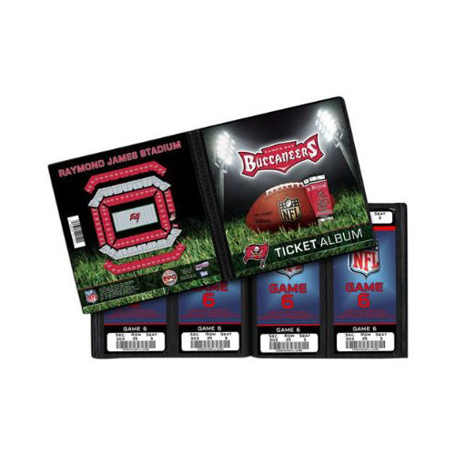 That's My Ticket - National Football League Collection - 8 x 8 Ticket Album - Tampa Bay Buccaneers
