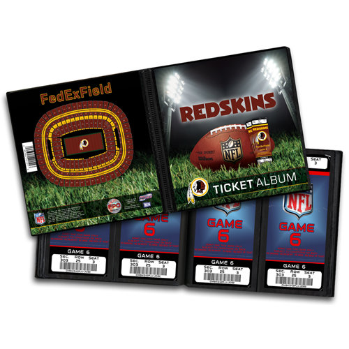 That's My Ticket - National Football League Collection - 8 x 8 Ticket Album - Washington Redskins