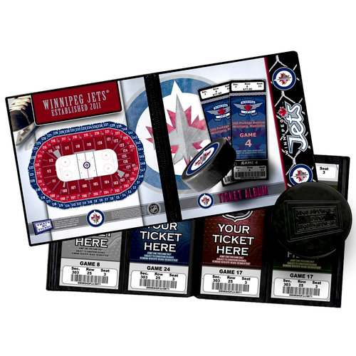 That's My Ticket - National Hockey League Collection - 8 x 8 Ticket Album - Winnipeg Jets