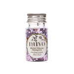 Tonic Studios - Nuvo Collection - Arabian Nights - Pure Sheen Confetti - Mixed Mauve Hexagons