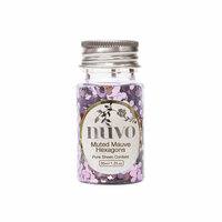 Nuvo - Arabian Nights Collection - Pure Sheen Confetti - Mixed Mauve Hexagons