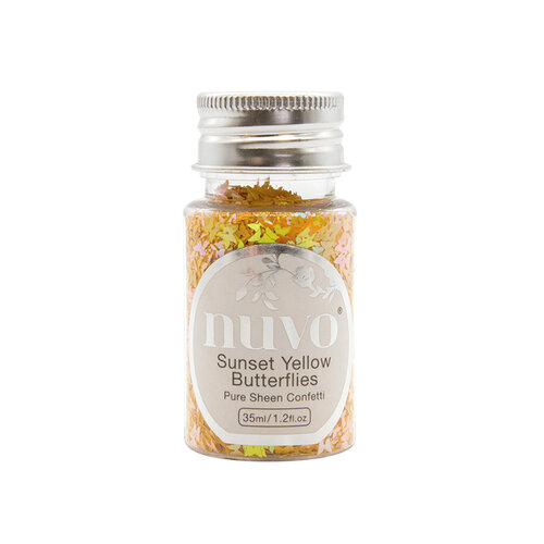 Nuvo - Woodland Walk Collection - Pure Sheen Confetti - Sunset Yellow Butterflies