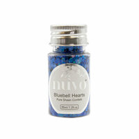 Nuvo - Blue Blossom Collection - Pure Sheen Confetti - Bluebell Hearts
