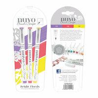 Nuvo - Brush Script Pens - Bright Florals