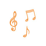 Tonic Studios - Rococo Petite Music Die - Musical Notes