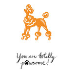 Tonic Studios - Rococo Petite Pampered Pets Die and Stamp Set - Pawesome Poodle