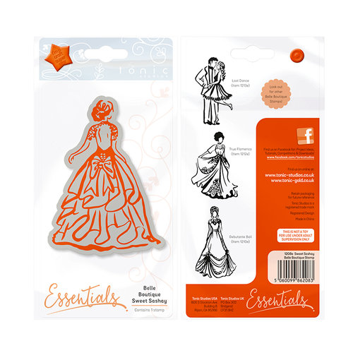 Tonic Studios - Belle Boutique Collection - Cling Mounted Rubber Stamps - Sweet Sashay