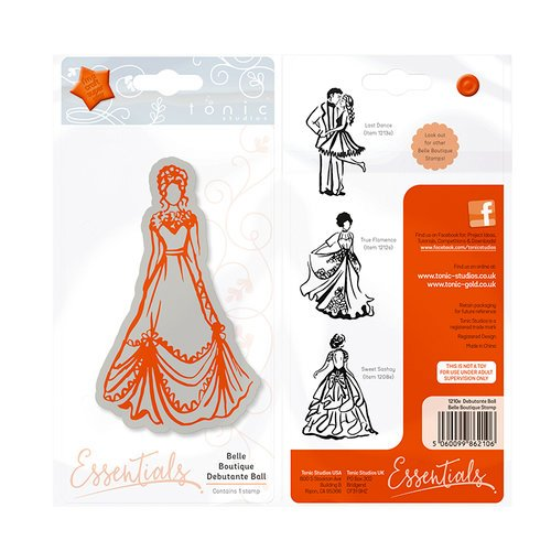 Tonic Studios - Belle Boutique Collection - Cling Mounted Rubber Stamps - Debutante Ball