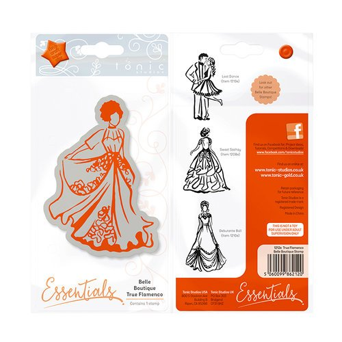 Tonic Studios - Belle Boutique Collection - Cling Mounted Rubber Stamps - True Flamenco