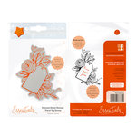 Tonic Studios - Delicate Detail Collection - Cling Mounted Rubber Stamps - Floral Tag