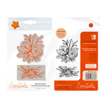 Tonic Studios - Delicate Detail Collection - Cling Mounted Rubber Stamps - Floral Flourish