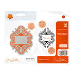Tonic Studios - Delicate Detail Collection - Cling Mounted Rubber Stamps - Henna Tag