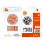 Tonic Studios - Delicate Detail Collection - Cling Mounted Rubber Stamps - Henna Flourish