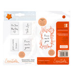Tonic Studios - Delicate Detail Collection - Clear Acrylic Stamps - Simple Sentiment