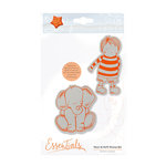 Tonic Studios - Marmalades World Collection - Cling Mounted Rubber Stamps - Henri and Heffi