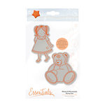Tonic Studios - Marmalades World Collection - Cling Mounted Rubber Stamps - Minnie and Marmalade