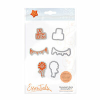 Tonic Studios - Marmalades World Collection - Dies and Cling Mounted Rubber Stamps - Accessory Set 1