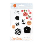 Tonic Studios - Bunched Bouquet Collection - Clear Acrylic Stamps - Traditional Spray - Two