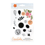 Tonic Studios - Bunched Bouquet Collection - Clear Acrylic Stamps - Modern Buttonhole