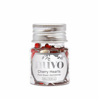 Nuvo - Pure Sheen Gemstones - Cherry Hearts