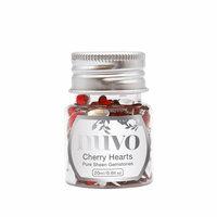 Nuvo - Pure Sheen Gemstones - Cherry Hearts