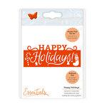 Tonic Studios - Christmas Header Fold Dies - Happy Holidays