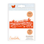 Tonic Studios - Christmas Header Fold Dies - Merry Christmas