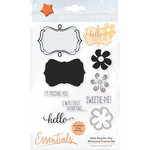 Tonic Studios - Whimsical Frames Collection - Dies and Clear Acrylic Stamps - Hello Sweetie Pie