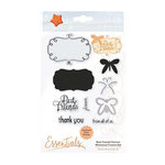 Tonic Studios - Whimsical Frames Collection - Dies and Clear Acrylic Stamps - Best Friends Forever