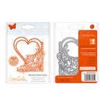 Tonic Studios - Fanciful Floral Collection - Metal Dies - Blossomed Heart Corner
