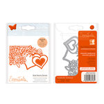 Tonic Studios - Fanciful Floral Collection - Metal Dies - Dual Hearts Corner