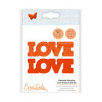 Tonic Studios - Mandala Moments Collection - Dies and Cling Mounted Rubber Stamps - Love