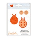 Tonic Studios - Mandala Moments Collection - Dies and Cling Mounted Rubber Stamps - Ladybug