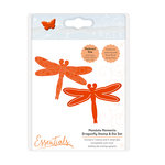 Tonic Studios - Mandala Moments Collection - Dies and Cling Mounted Rubber Stamps - Dragonfly