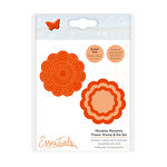 Tonic Studios - Mandala Moments Collection - Dies and Cling Mounted Rubber Stamps - Flower