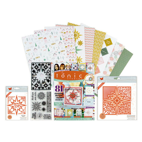 Tonic - Cardmaking Inspiration 178 Piece Kit - Includes Embossing Folder, Paper, Die, Stamp