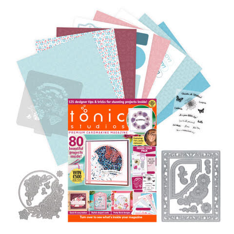 Tonic - Cardmaking Inspiration Guide - Includes Stencil, Paper, Dies, Stamps - 284 Pieces