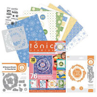 Tonic - Cardmaking Inspiration Guide - Includes Stencil, Paper, Dies, Stamps - 238 Pieces