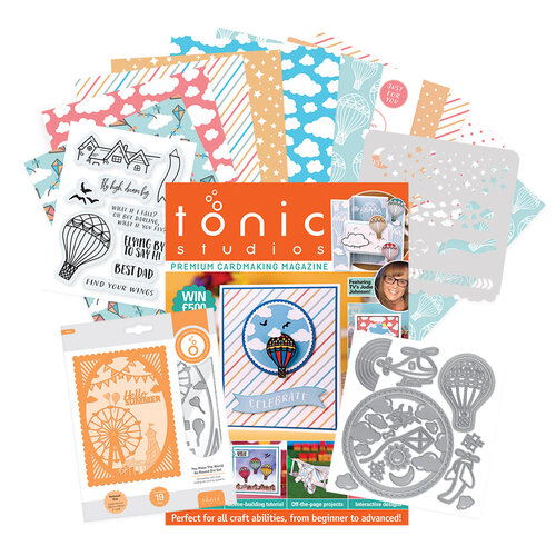 Tonic - Cardmaking Inspiration Guide - Issue 14 - Includes Stencil, Paper, Dies, Stamps - 257 Pieces