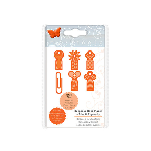 Tonic Studios - Keepsake Book Maker - Die Set - Tabs and Paperclip