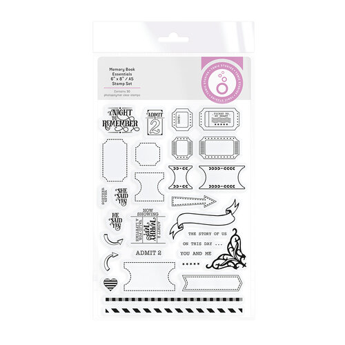 Tonic Studios - My Memory Book Essentials - A5 - Clear Photopolymer Stamp Set