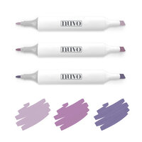 Nuvo - Dream In Colour Collection - Alcohol Markers - Hazy Mauves
