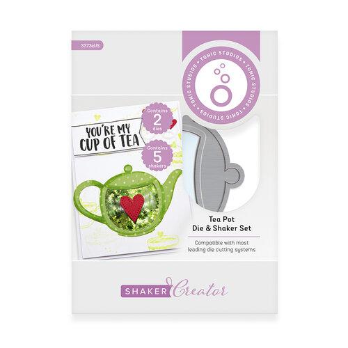 Tonic Studios - Shaker Creator - Tea And Coffee Cups Die And Shaker Set - Tea Pot