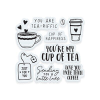 Tonic Studios - Shaker Creator - Clear Acrylic Stamp Set - Tea and Coffee