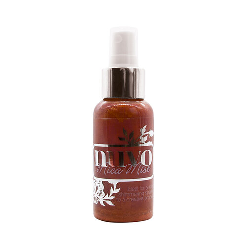 Nuvo - Merry and Bright Collection - Mica Mist - Crimson Velvet